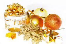 Free Golden Christmas Composition Royalty Free Stock Images - 3634149