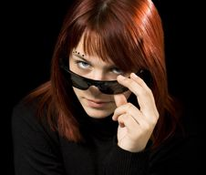 Free Girl With Sunglasses Staring At Camera Stock Photos - 3634543