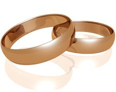 Free Two Gold Wedding Rings Stock Photo - 3634580