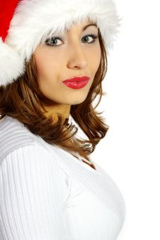 Free Sexy Christmas Girl Royalty Free Stock Image - 3634656