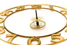 Clock-face Pinion Royalty Free Stock Photo
