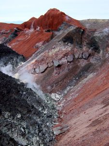 Crater Avachenskiy Volcano Royalty Free Stock Images