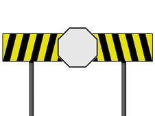 Empty Warning Sign Stock Image
