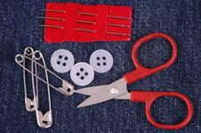 Free Sewing Kit. Royalty Free Stock Photo - 3635615