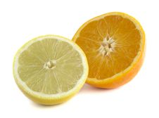 Free Orange & Lemon Halves Royalty Free Stock Image - 3635816