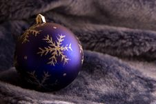 Free Christmas Ball On Fur Stock Images - 3636404