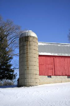 Free Red Barn Royalty Free Stock Photography - 3636467