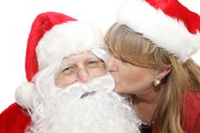 Free Kiss For Santa Royalty Free Stock Photography - 3636477