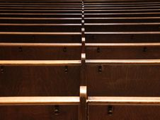 Free Catholic Church Benches Stock Photos - 3637753