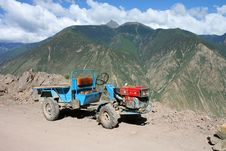 Free Small Chinese Tractor In Tibet Royalty Free Stock Photos - 3637908