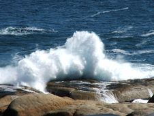 Waves Crashing Royalty Free Stock Image