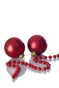 Free Two Christmas Balls Royalty Free Stock Images - 3639559