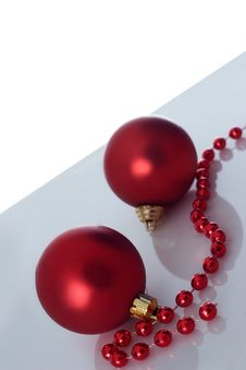 Free Two Christmas Balls Stock Photos - 3639573