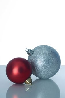 Free Two Christmas Balls Royalty Free Stock Photo - 3639595
