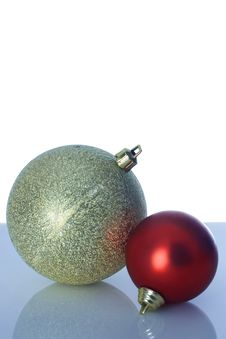 Free Two Christmas Balls Royalty Free Stock Photos - 3639618