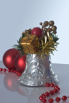 Free Christmas Bell And Christmas Balls Royalty Free Stock Images - 3639629
