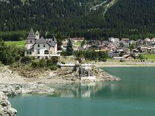 Small Village On The Lake Royalty Free Stock Photos