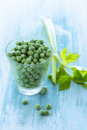 Free Glass Of Fresh Peas Royalty Free Stock Image - 36300666
