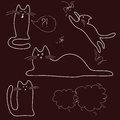 Free Sketches, Doodle, Cats Stock Images - 36304424