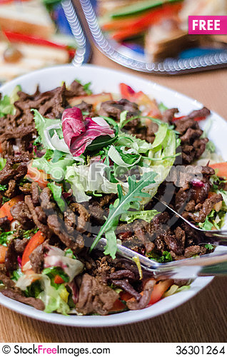 Free Beef Salad Stock Images - 36301264