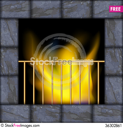 Free Vector Illustration Of Fire In The Fireplace Stock Image - 36302861