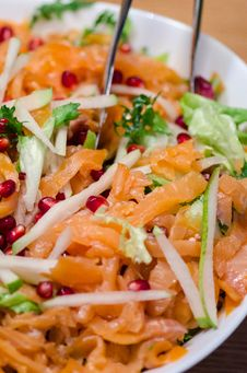 Free Smoked Salmon Salad Royalty Free Stock Image - 36301246