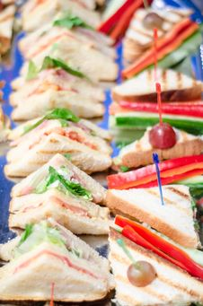 Free Mini Sandwiches Royalty Free Stock Images - 36301259