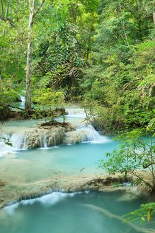 Free Deep Forest Waterfall In Thailand Royalty Free Stock Image - 36303266
