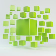 Abstract Green Geometric Shapes Stock Photography