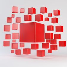 Abstract Red Geometric Shapes Stock Photos