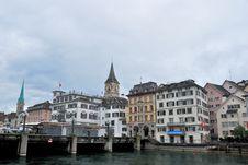 Townscape Of Zurich, Switzerland. Stock Photo