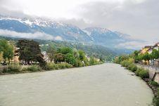 Veiw Of River Salzach, Salzburg Stock Photos