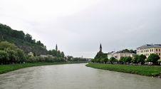 Free Veiw Of River Salzach, Salzburg Royalty Free Stock Photo - 36307365