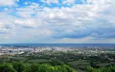 Panorama Of The City Of Vienna Stock Photography
