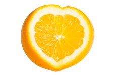 Orange Heart Shaped Royalty Free Stock Photography