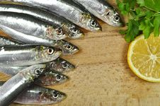 Free Sea Fish With Fresh Parsley And Lemon Stock Photo - 36309210