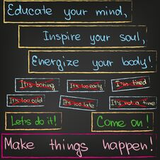 Free Educate Your Mind, Inspire Your Soul Royalty Free Stock Photos - 36310998