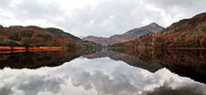 Free Reflections Of Moody Snowdonia, Llyn Gwynant, Snowdonia, Wales Stock Photos - 36315033