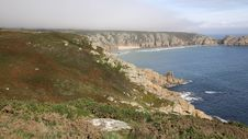 Free Coast Of Cornwall England In Autumn With Mist Royalty Free Stock Photo - 36317415