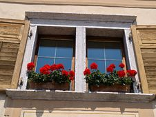 Typical Italian Creative Window Royalty Free Stock Photos