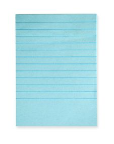 Blank Notebook Isolated On White Stock Photography