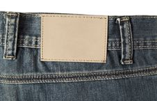 Free Jeans Label Stock Photo - 36318300