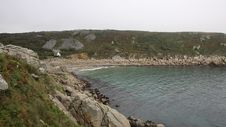 Lamorna Beach And Cove Cornwall England UK Royalty Free Stock Photography