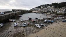 Mousehole Harbour Cornwall England Royalty Free Stock Photo