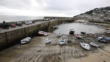 Mousehole Harbour Cornwall England Royalty Free Stock Photos
