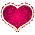 Free Red And Gold Vintage Valentine Frame Stock Photos - 36326033
