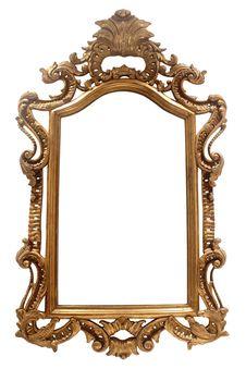 Free Vintage Frame On White Royalty Free Stock Photo - 36326415