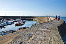 Free Morning Stroll ~ Lyme Regis Stock Images - 36329604
