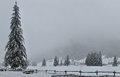 Free Dolomite Snow Storm Trees Royalty Free Stock Photography - 36332757