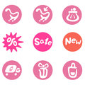 Free Shopping And Business Icon Set Royalty Free Stock Photography - 36334417